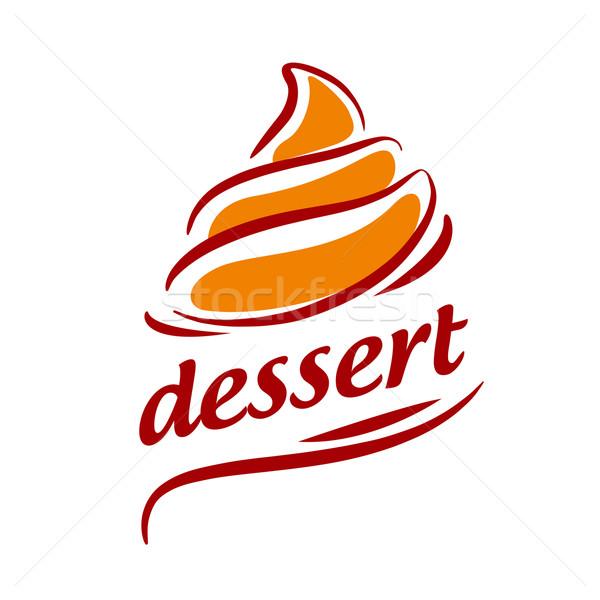 vector logo abstract orange cream Stock photo © butenkow