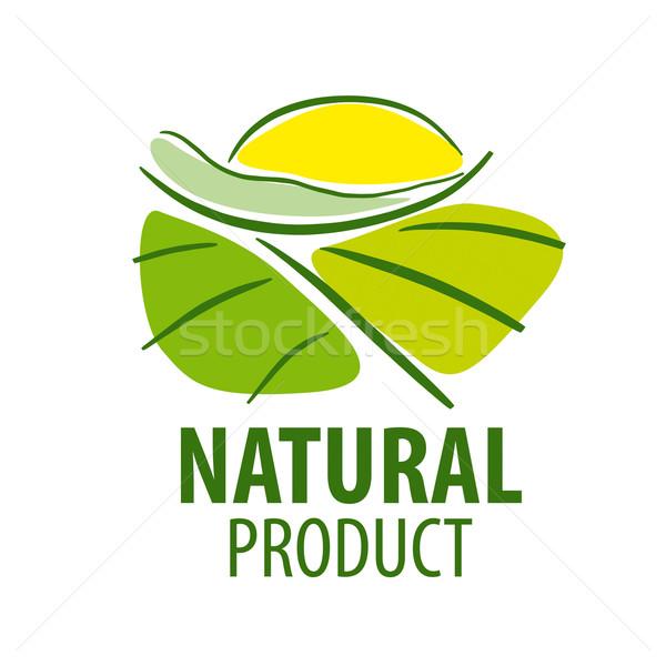 Vektor logo tájkép mező nap étel Stock fotó © butenkow