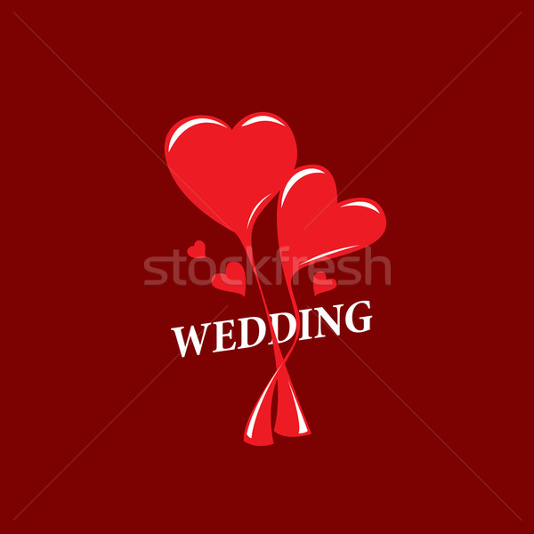 Vektor logo Hochzeit abstrakten Vorlage Illustration Stock foto © butenkow