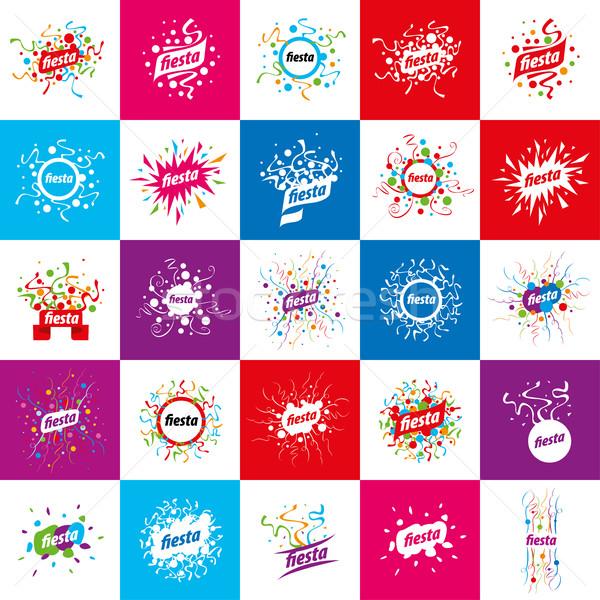 Stockfoto: Vakantie · vector · logo · abstract · logo-ontwerp · partij