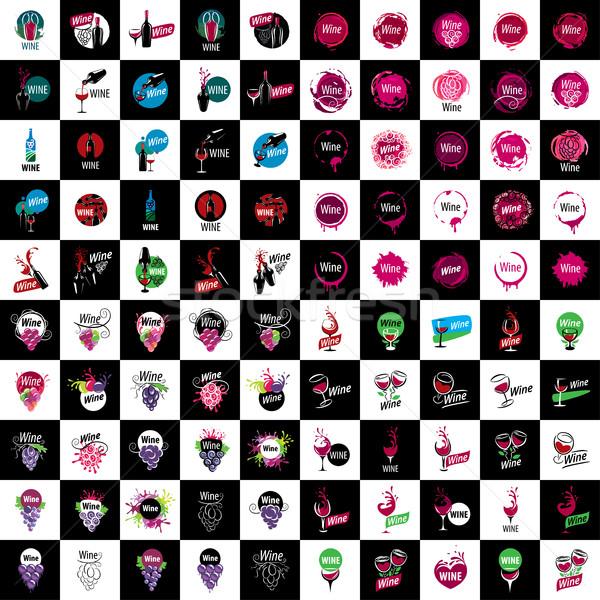 vector wine logo Stock photo © butenkow
