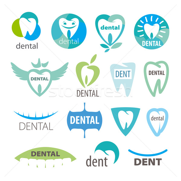 biggest collection of vector logos dentistry  Stock photo © butenkow