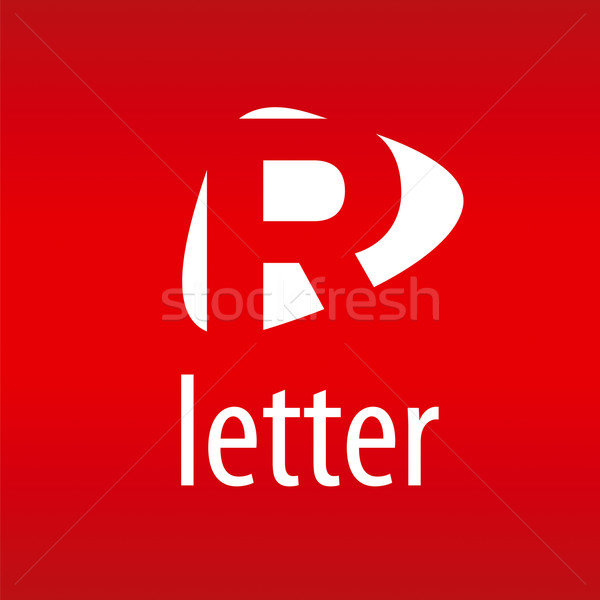 Abstract vector logo letter R on a red background Stock photo © butenkow
