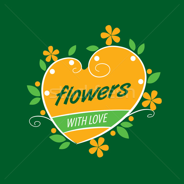 Fiore vettore logo abstract floreale design impianto Foto d'archivio © butenkow