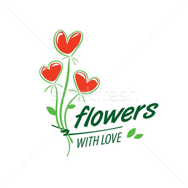 Kwiat wektora logo streszczenie kwiatowy projektu roślin Zdjęcia stock © butenkow
