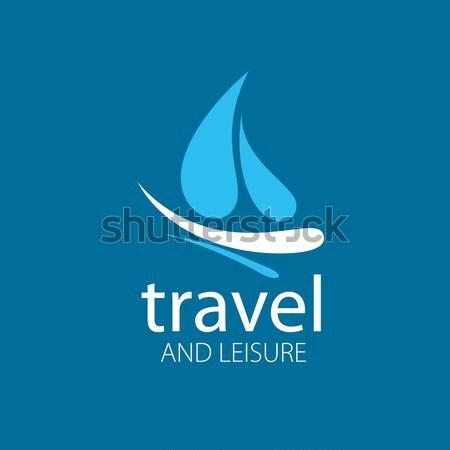 Vecteur logo eau résumé modèle mer Photo stock © butenkow
