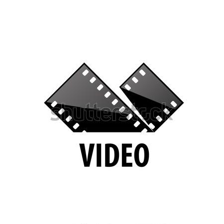 Vektor logo film logoterv sablon filmek Stock fotó © butenkow