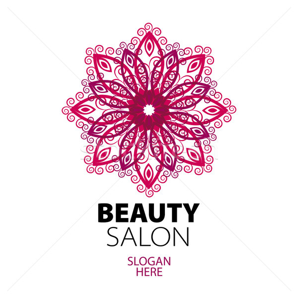 abstract logo lace for beauty salon Stock photo © butenkow