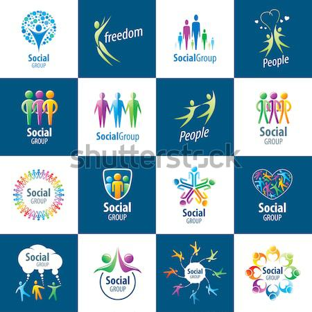 large collection of vector logos children Stock photo © butenkow