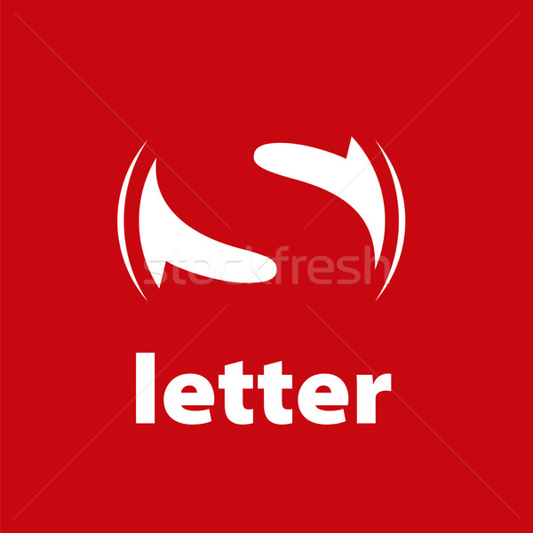vector logo letter S on a red background Stock photo © butenkow