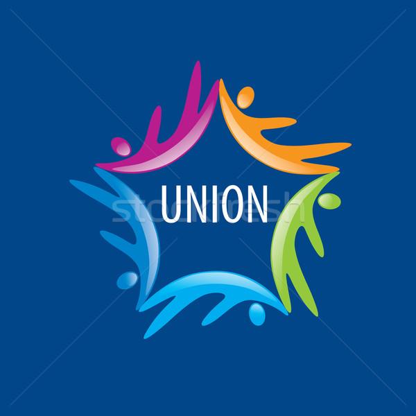 логотип Союза люди аннотация вектора Сток-фото © butenkow