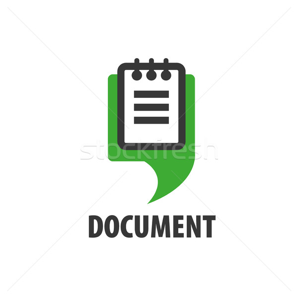 vector logo document Stock photo © butenkow