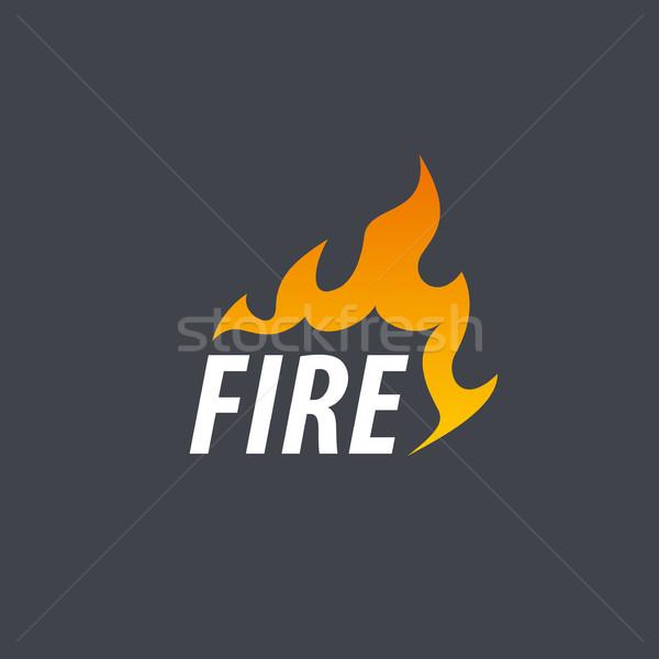 Stok fotoğraf: Yangın · vektör · logo · şablon · alev · iş