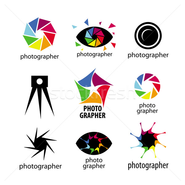 collection of vector logos for photographers and photo Stock photo © butenkow