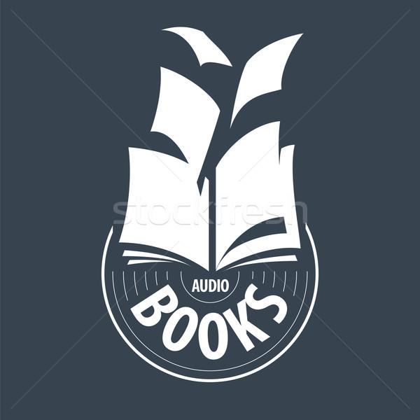 vector logo audiobooks fly away sheets Stock photo © butenkow