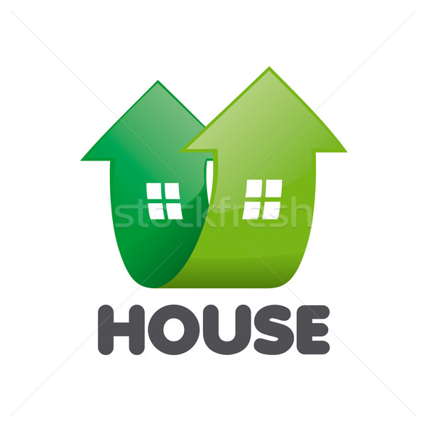vector logo home in the form of arrows Stock photo © butenkow