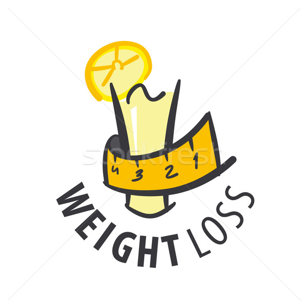 vector logo juice for weight loss Stock photo © butenkow