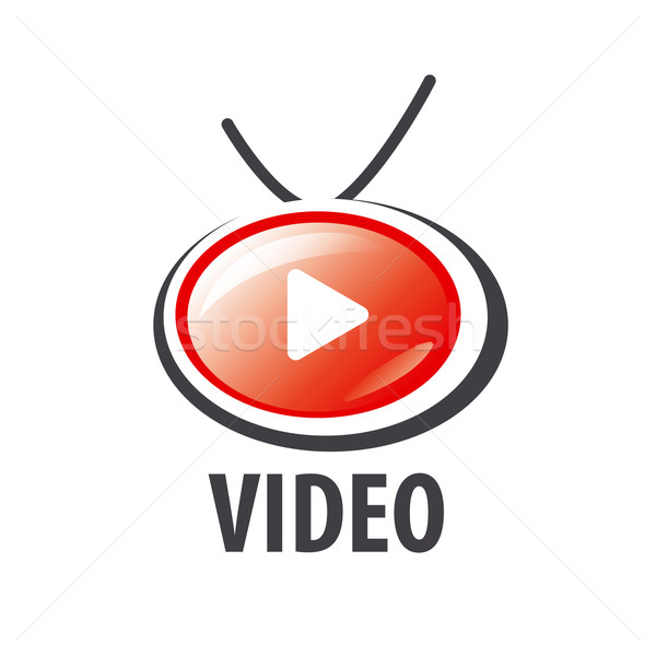 Stockfoto: Vector · logo · vorm · retro · tv · business