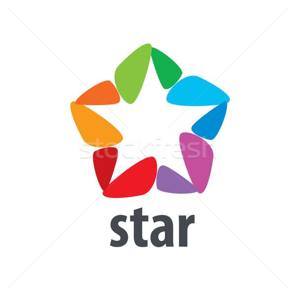 Vektor logo csillag absztrakt felirat branding Stock fotó © butenkow