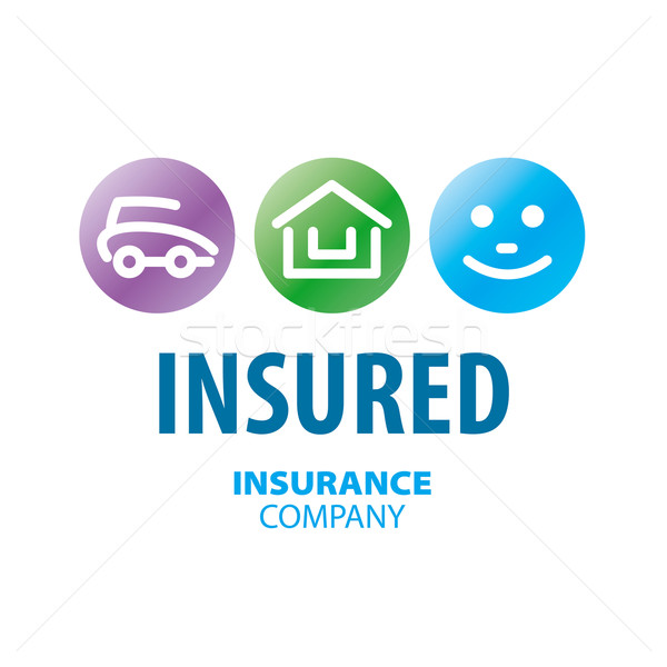 vector logo for life insurance, car and real estate Stock photo © butenkow