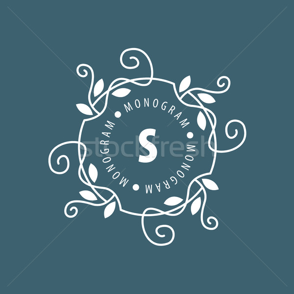 monogram vector in frame Stock photo © butenkow