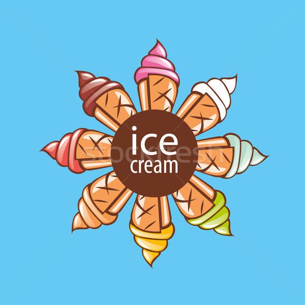 logo ice cream Stock photo © butenkow