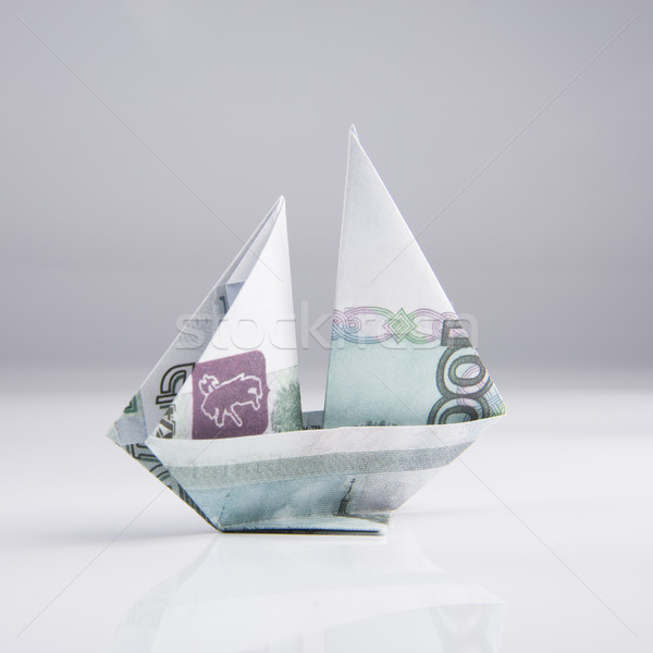 ship from banknotes Stock photo © butenkow