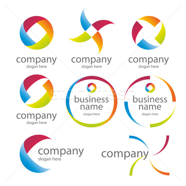 abstract round colored logos Stock photo © butenkow