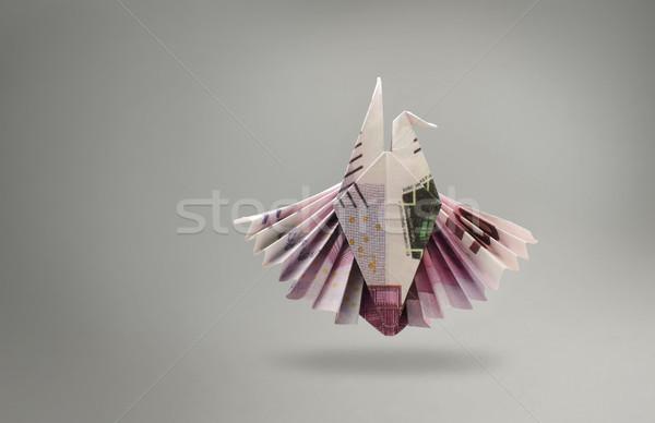 Embleem adelaar vijf honderd euro bankbiljetten Stockfoto © butenkow