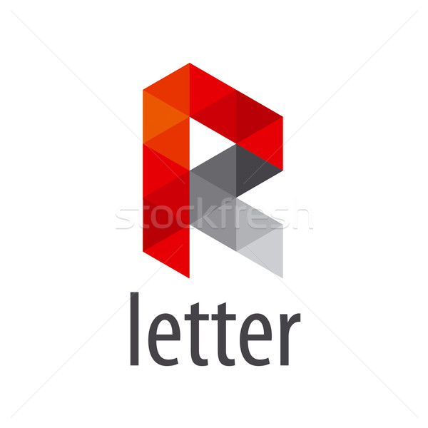 Abstract vector logo letter R modules Stock photo © butenkow