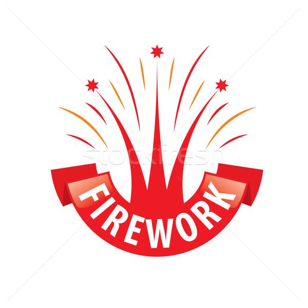 Vetor logotipo fogos de artifício abstrato moda aniversário Foto stock © butenkow