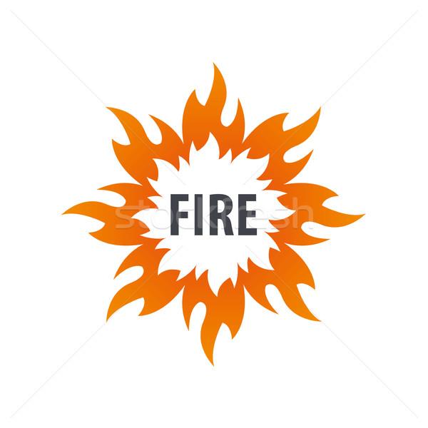 Feu vecteur logo modèle flamme affaires Photo stock © butenkow