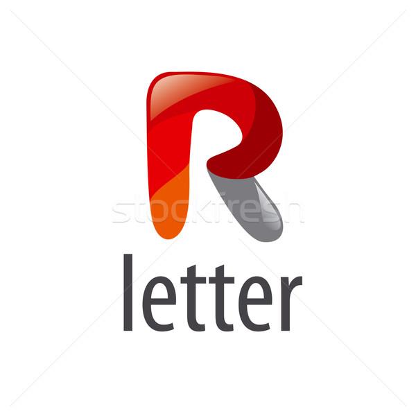 Absztrakt vektor logo rajz r betű felirat Stock fotó © butenkow