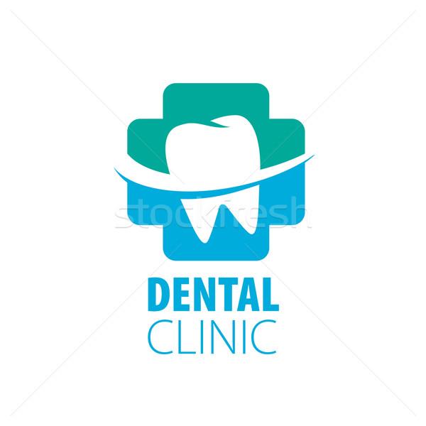 Vektor logo fogászat kezelés megelőzés védelem Stock fotó © butenkow