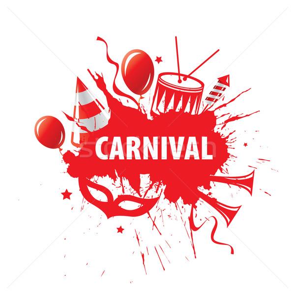 Karnawałowe wektora logo streszczenie szablon festiwalu Zdjęcia stock © butenkow