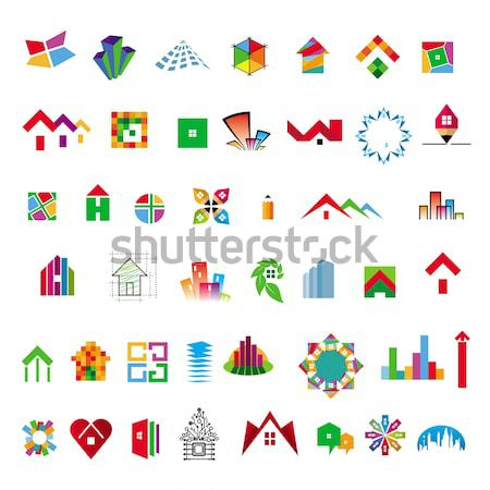 collection of vector logos construction and home improvement Stock photo © butenkow