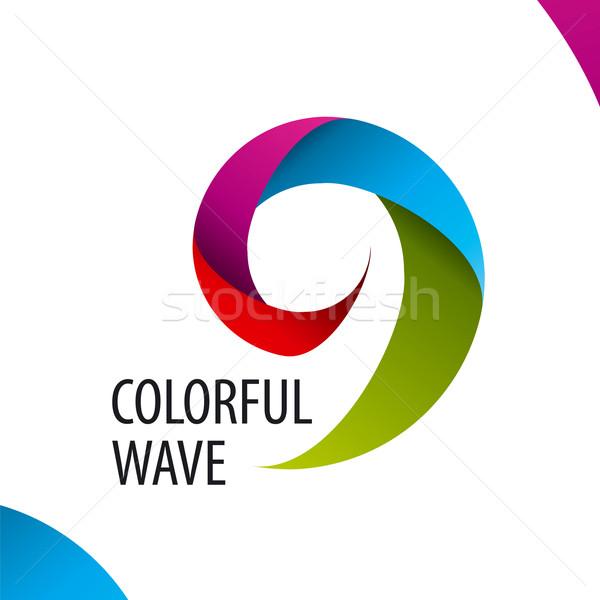 Vetor logotipo colorido onda banda ouvido Foto stock © butenkow