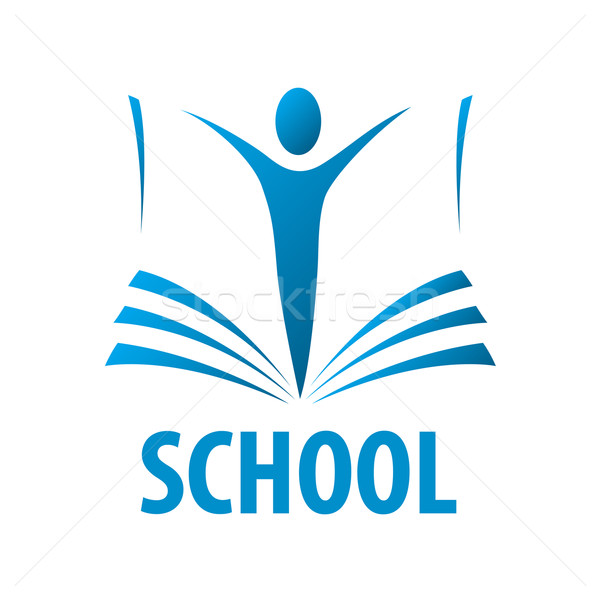 vector logo education people in the book Stock photo © butenkow