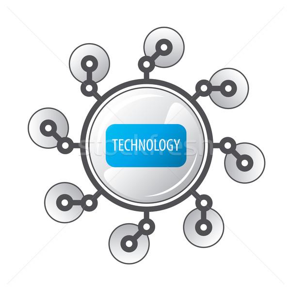 vector logo round robot legged Stock photo © butenkow