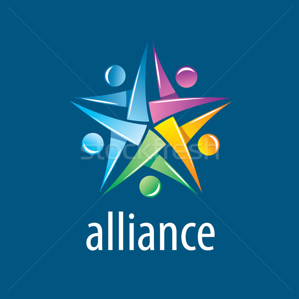 человека альянс логотип аннотация вектора Союза Сток-фото © butenkow