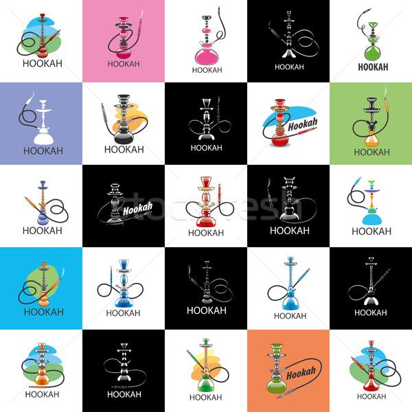 Vettore logo narghilè logo design modello icona Foto d'archivio © butenkow