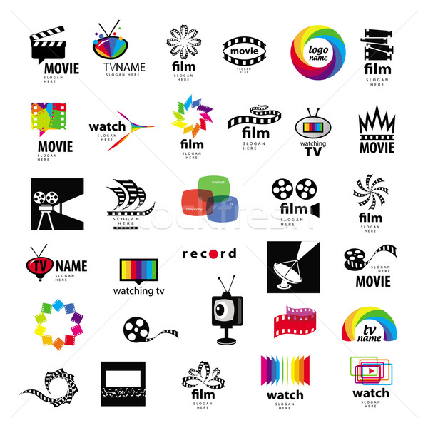 collection of logos tv, video, photo, film Stock photo © butenkow