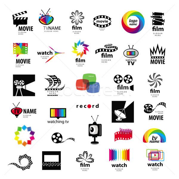 Coleção logos tv vídeo foto filme Foto stock © butenkow