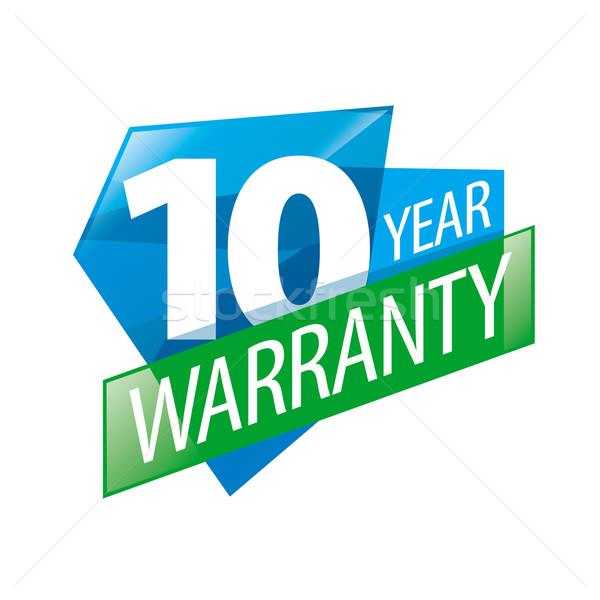 Vetor logotipo 10 anos garantia negócio arte Foto stock © butenkow