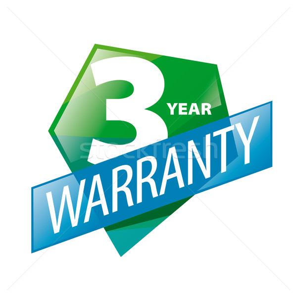 vector logo 3 year guarantee in the form of shield Stock photo © butenkow