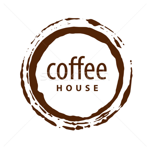 vector logo round imprint of coffee Stock photo © butenkow
