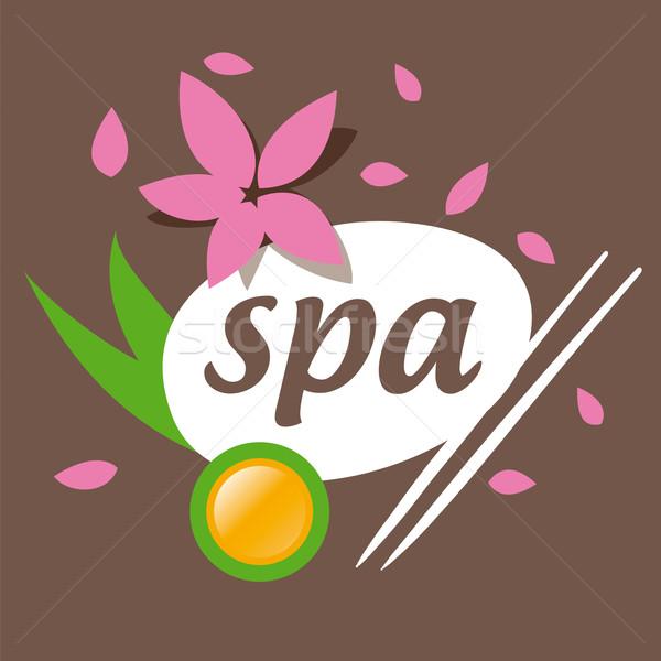 Foto stock: Resumen · vector · logo · spa · salón