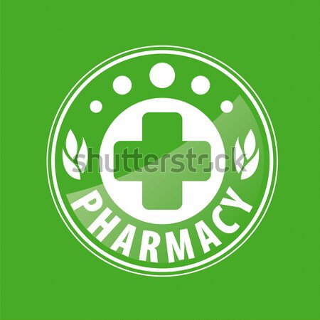 Abstract vector logo farmaceutisch bedrijven Stockfoto © butenkow