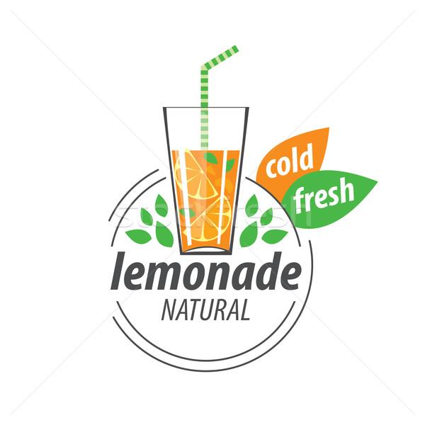 Logotipo limonada vetor ícone bebidas abstrato Foto stock © butenkow