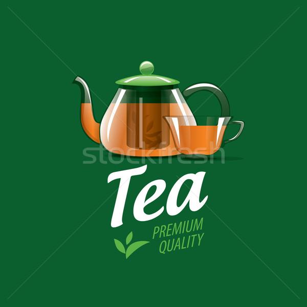 Vector logo té ilustración plantilla Foto stock © butenkow